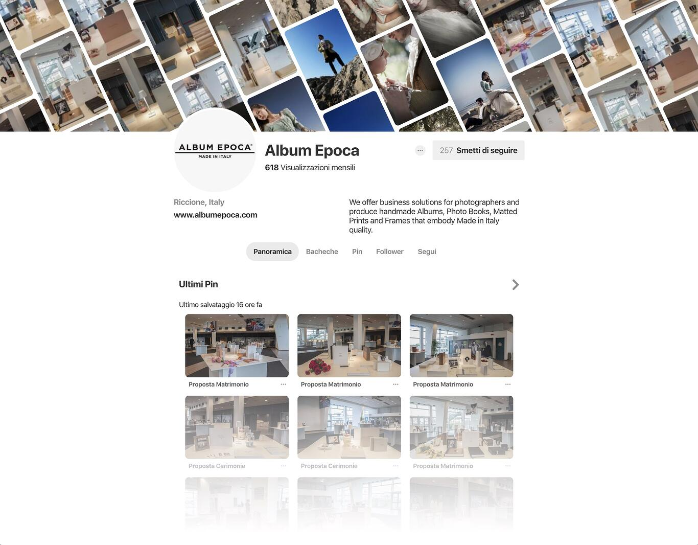 AE Pinterest profile