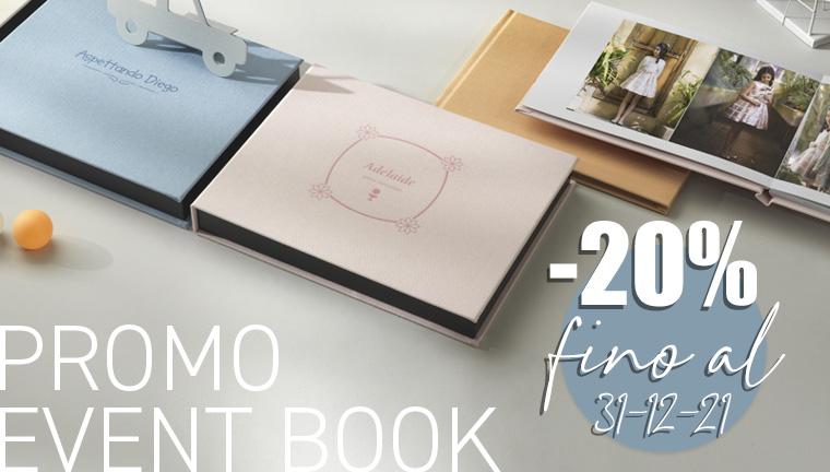 20% su Event Book - promo valida fino al 31/12/2021