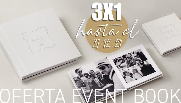 3 Event Book al precio de uno - oferta válida hasta el 31/12/21