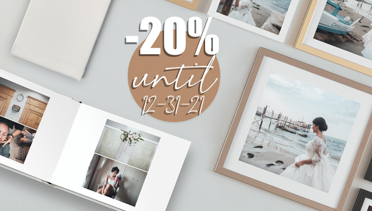 20% on 1 Event Book + 1 Wall&Table Decor - until Dec. 31, 2021